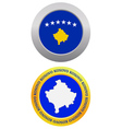 button as a symbol KOSOVO vector image