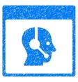 Call Center Operator Calendar Page Grainy Texture vector image vector image
