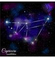 capricorn constellation with triangular background vector image vector image
