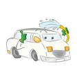 car washing itself vector image vector image