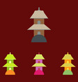 chinese temple of heaven pagoda set vector image vector image