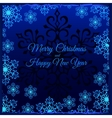 Christmas card with white snowflakes around vector image vector image