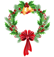 christmas decorative wreath vector image