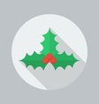 Christmas Flat Icon Holly berry vector image vector image