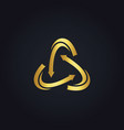 circle gold arrow logo vector image vector image