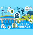 clean earth alternative energy sources poster vector image