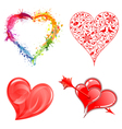 Collect Valentines Day Hearts vector image vector image
