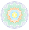 Colored Circular Guilloche pattern rosette vector image vector image