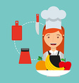 cooking concept design vector image