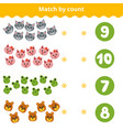 Counting game for children count animals in the