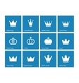 Crown icons on blue background vector image vector image