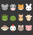 cute cartoon chinese zodiac icon vector image vector image