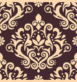 damask luxury seamless pattern victorian vector image vector image