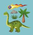dinosaurs extinction cartoons vector image