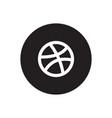 dribbble icon vector image vector image