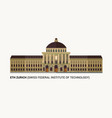 eth zurich swiss federal institute of technology vector image vector image