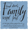family hand drawn poster vector image