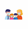 family wear face mask for protection from virus vector image vector image