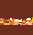 fast food horizontal banner vector image vector image