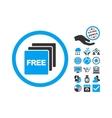 Free Flat Icon With Bonus vector image