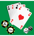 gambling set vector image