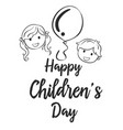 happy childrens day collection style vector image vector image