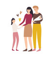 happy loving family mother father daughter vector image vector image