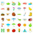 harvest icons set isometric style vector image vector image