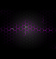 hexagonal pattern on purple magma background vector image vector image