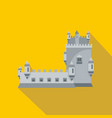 history castle icon flat style vector image vector image