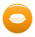 hot dog icon orange vector image