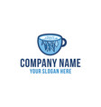 ice coffee cold brew coffee product logo vector image