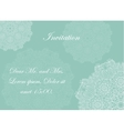 invitation with victorian ornaments beautiful vector image vector image