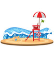 isolated beach on white background vector image