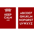 Keep calm empty poster red vector image