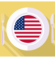 kitchen of United States vector image vector image