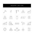 Line icons set industry pack