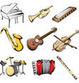 musical instruments icons vector image