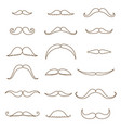 mustache collection coloring silhouette