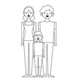 people characters cartoon vector image