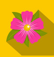 pink petunia flower icon flat style vector image