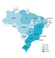 population map brazil vector image vector image
