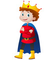 prince in red and blue costume vector image vector image