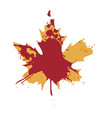 red and yellow maple leaf isolated on a white vector image