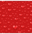 Seamless pattern beautiful red heart vector image vector image