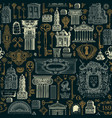 seamless pattern on theme old architecture