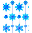 seamless pattern with 3d hanging blue origami vector image