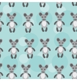 Seamless pattern with funny cute mouse animal on a vector image