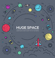 set of huge space infographic universe vector image
