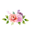 set of the floral arrangements vector image vector image